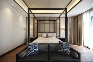 新中式别墅装修卧室设计图