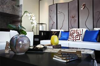 新中式三居装修客厅细节图