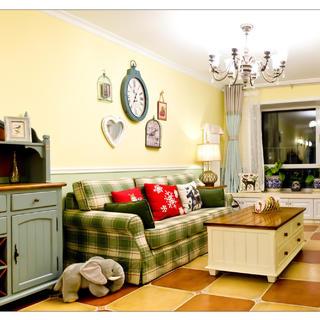 90平美式风装修 暖暖的家