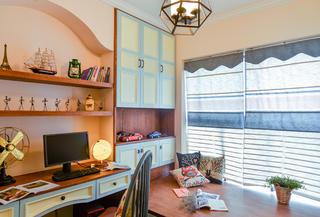 美式三居室书房设计图