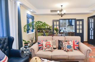 美式三居室沙发图片