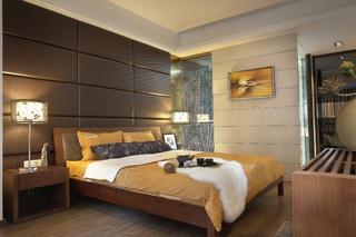 135平现代简约风装修床头软包设计