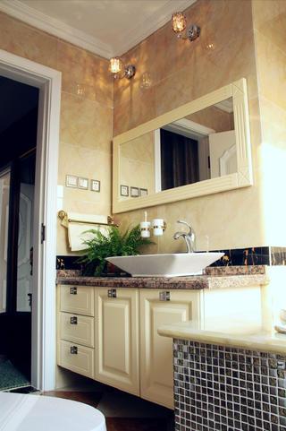 140㎡新古典三居装修洗手台图片