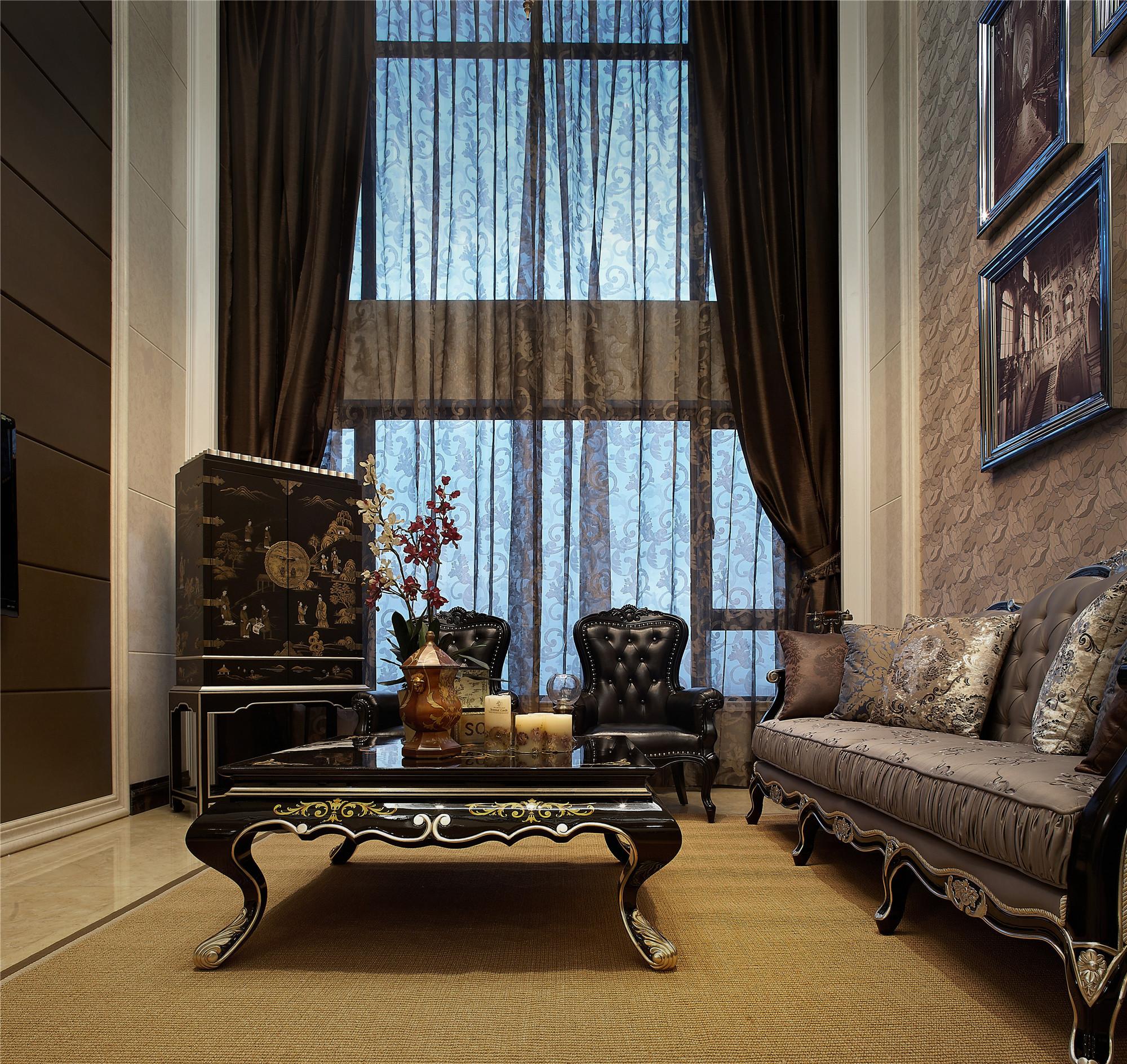 新古典跃层别墅装修客厅设计图
