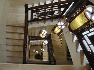 古典中式别墅装修楼梯图片