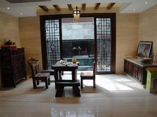 古典中式别墅装修餐厅布局图