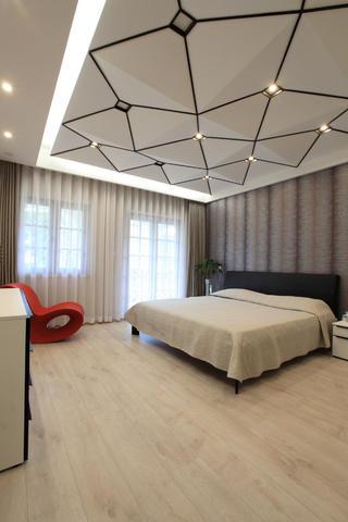 现代简约风格别墅装修卧室设计图