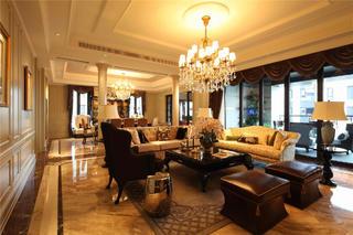 新古典别墅装修客厅效果图