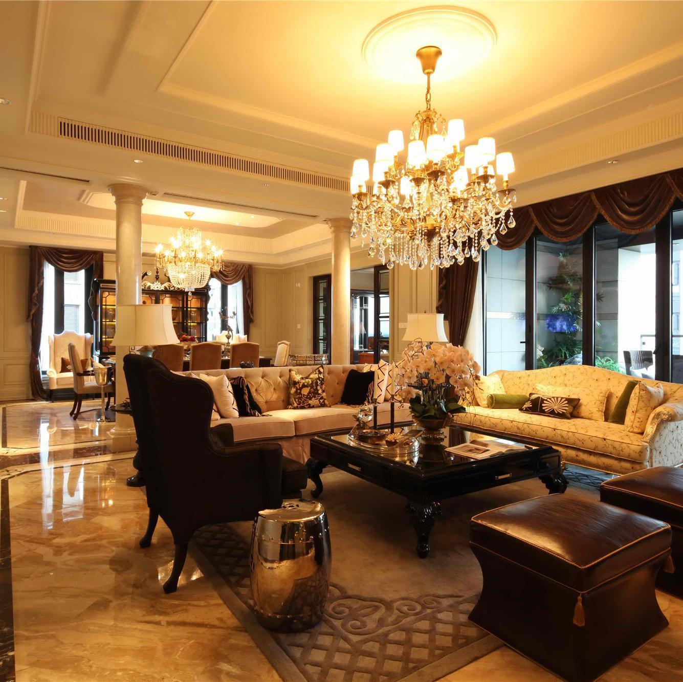 新古典别墅装修效果图 奢华质感