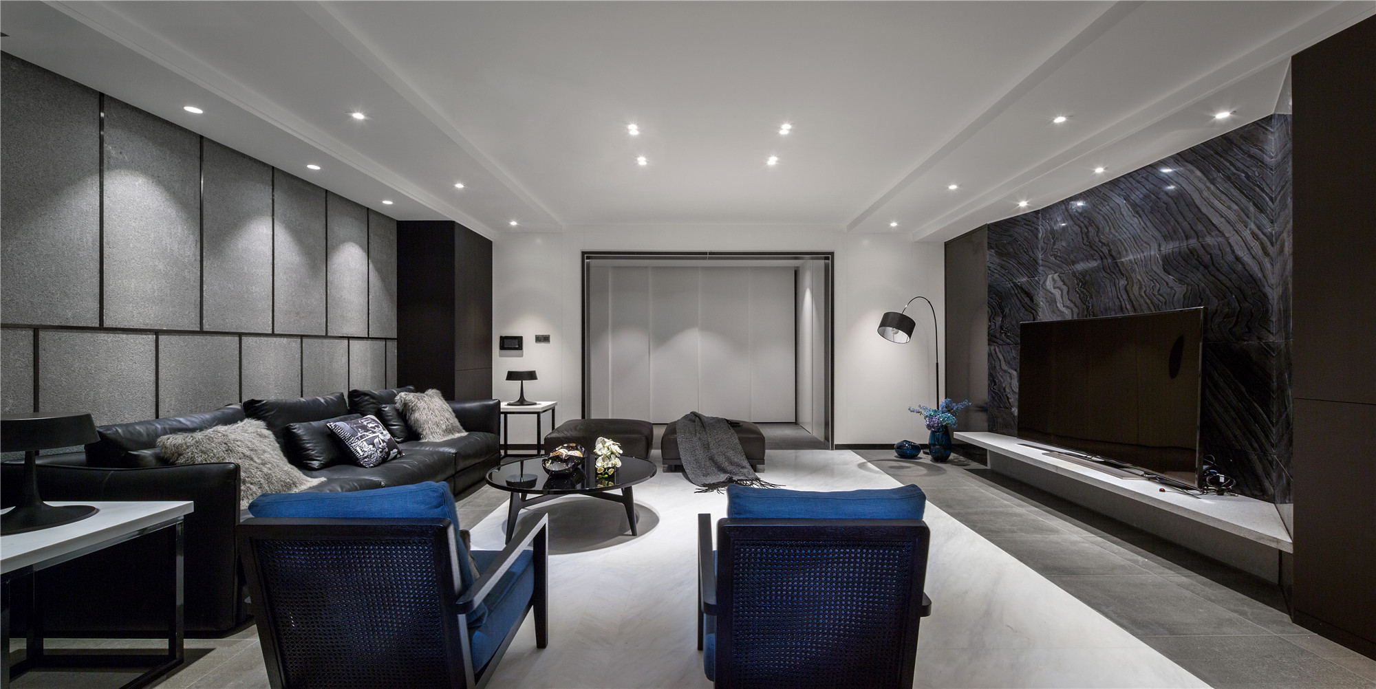 现代简约风三居客厅效果图