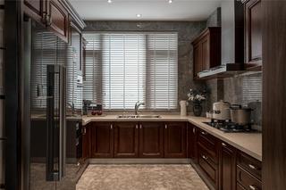 新中式复式装修厨房效果图