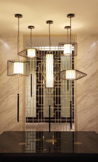 中式样板间装修吊灯设计