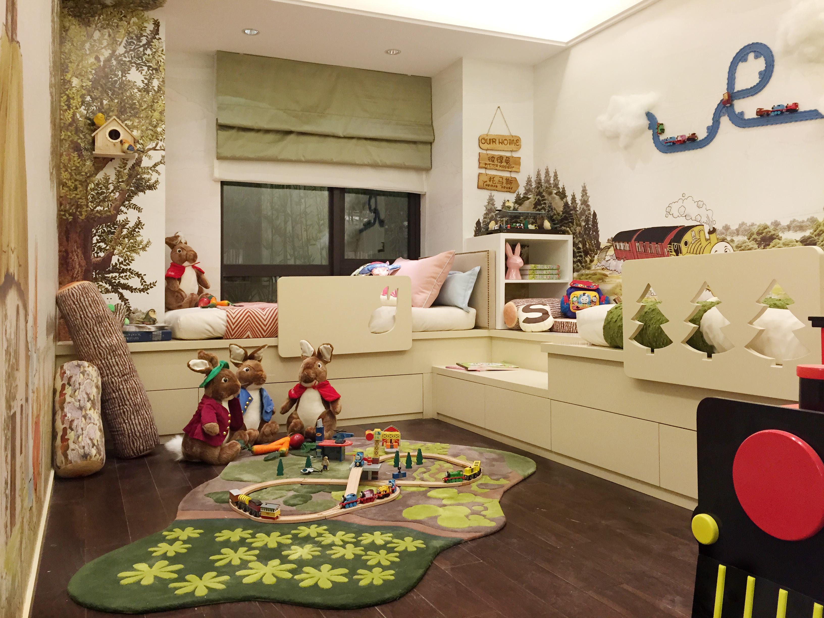 130平中式装修儿童房设计图