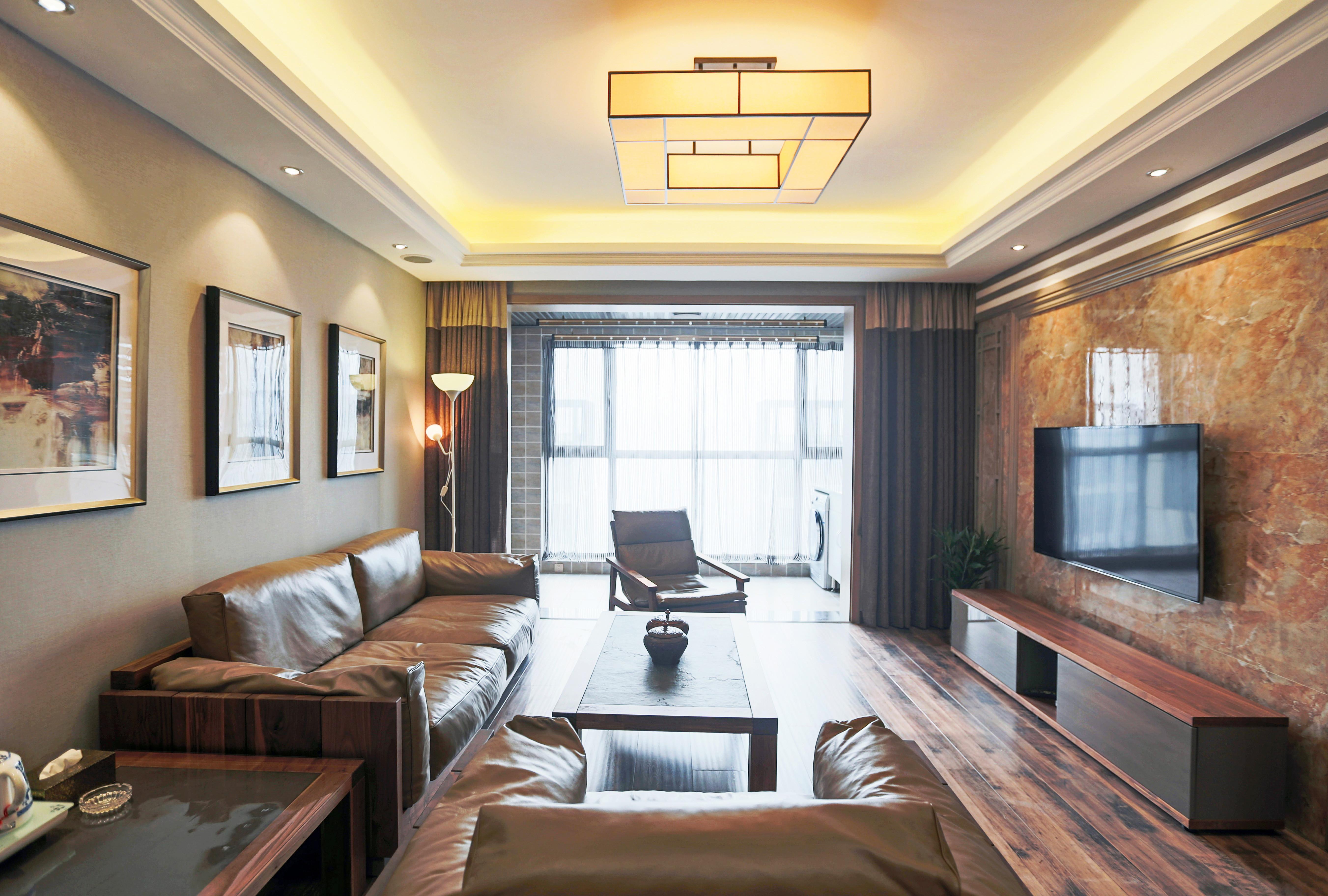 145平新中式三居装修客厅设计图