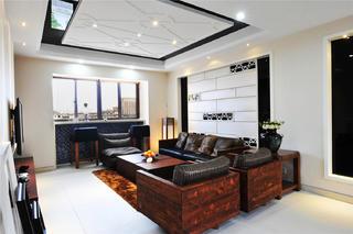现代中式风格装修客厅设计图