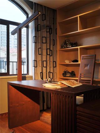现代中式风格装修书房布置图