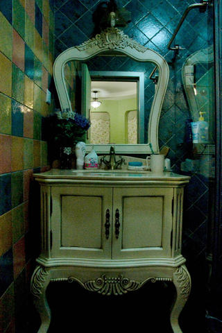 地中海田园风格家浴室柜图片