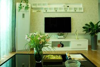 现代简约风格三居电视背景墙图片