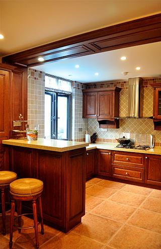 美式三居之家厨房设计图