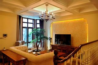 美式三居之家客厅设计图