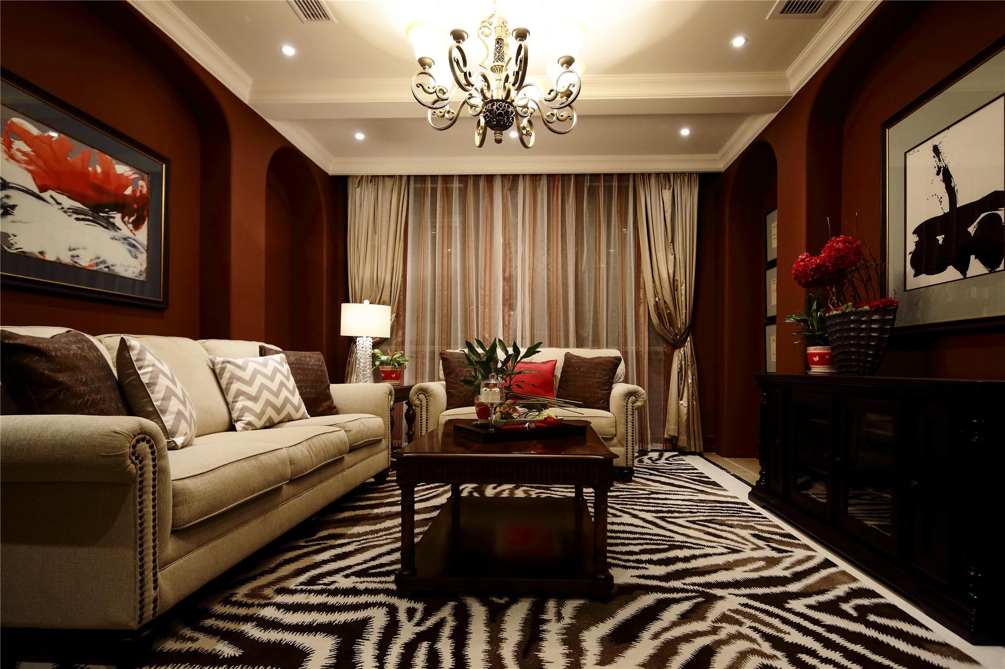 大户型现代风格装修客厅实景图