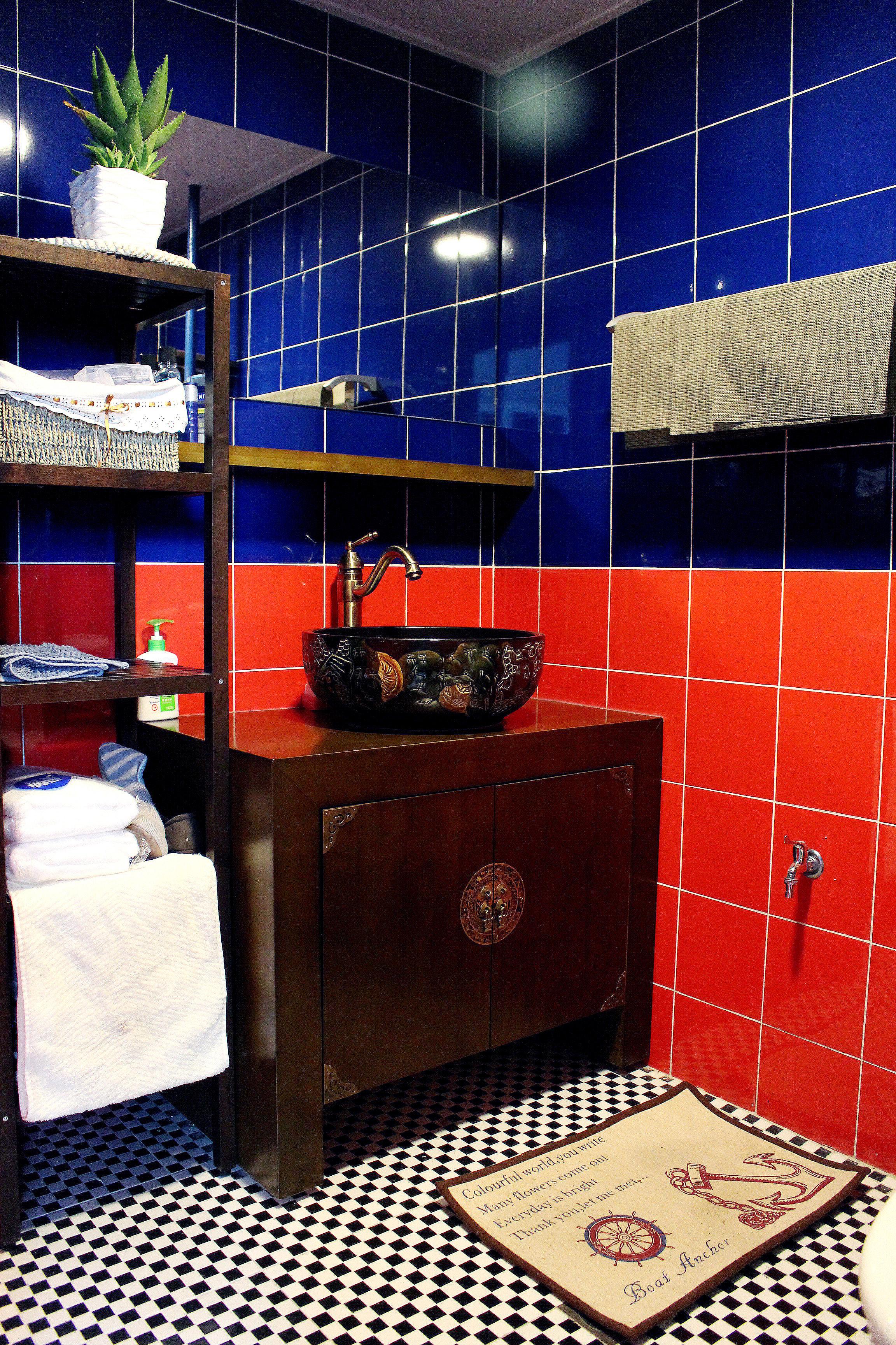 复式新中式装修卫生间搭配图