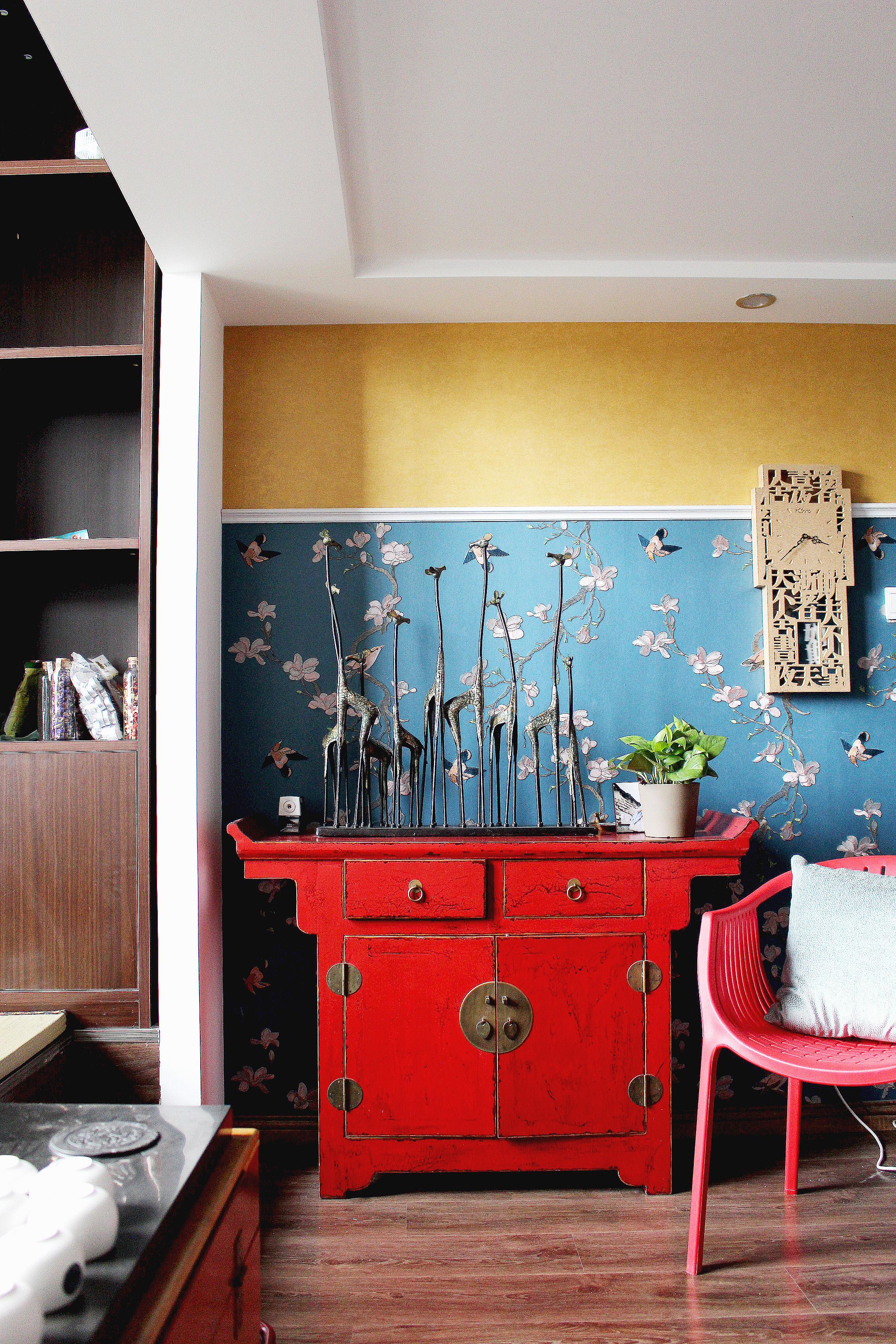 复式新中式装修装饰柜图片