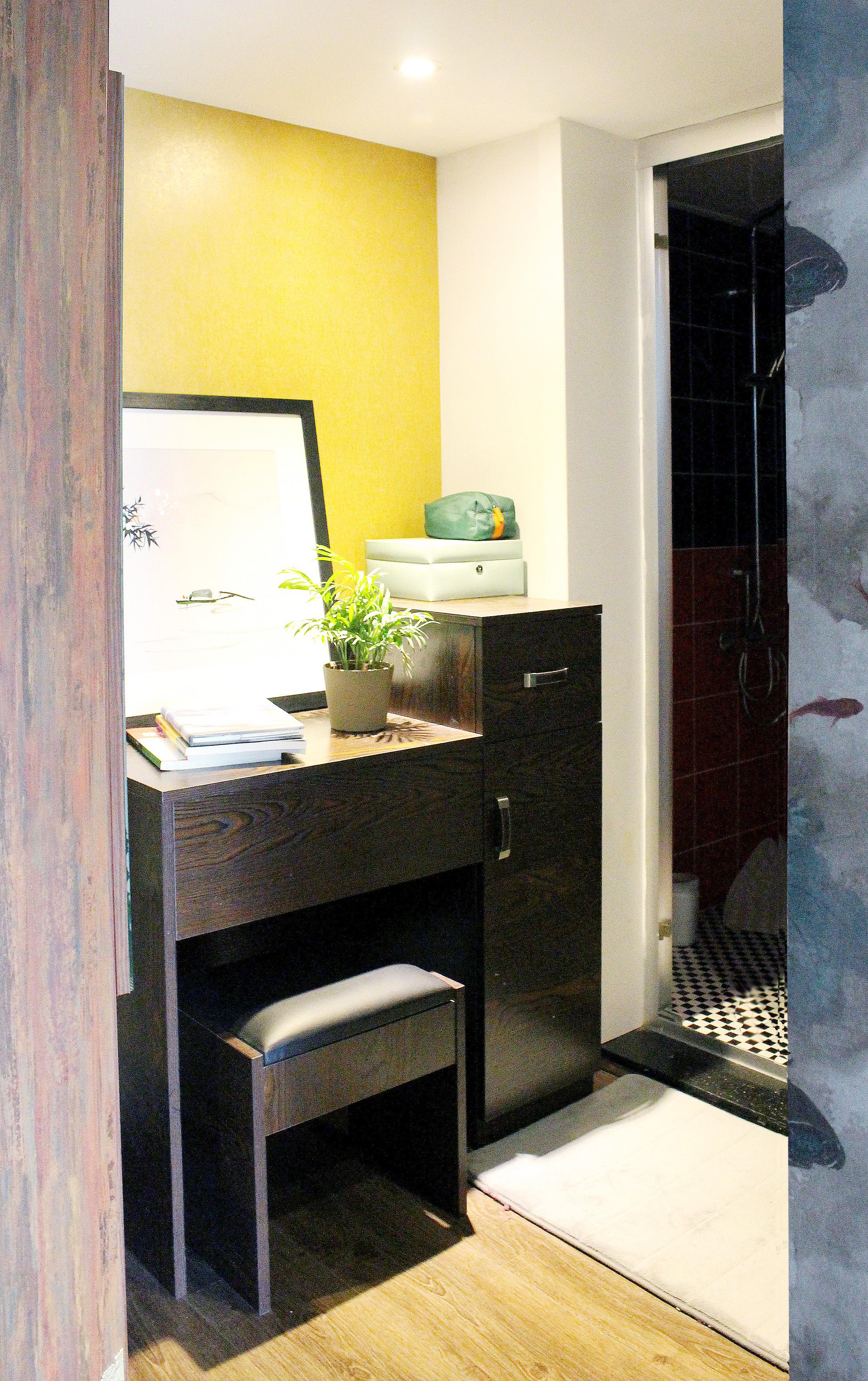 复式新中式装修梳妆台图片