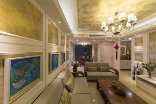混搭风格两居装修沙发背景墙图片