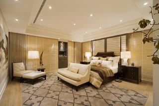 现代混搭三居卧室背景墙图片