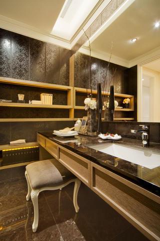 现代混搭三居洗手台设计