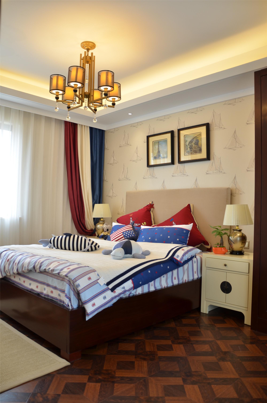新中式风格三居室装修儿童房搭配图