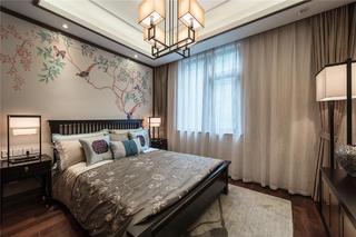 新中式复式装修卧室设计图