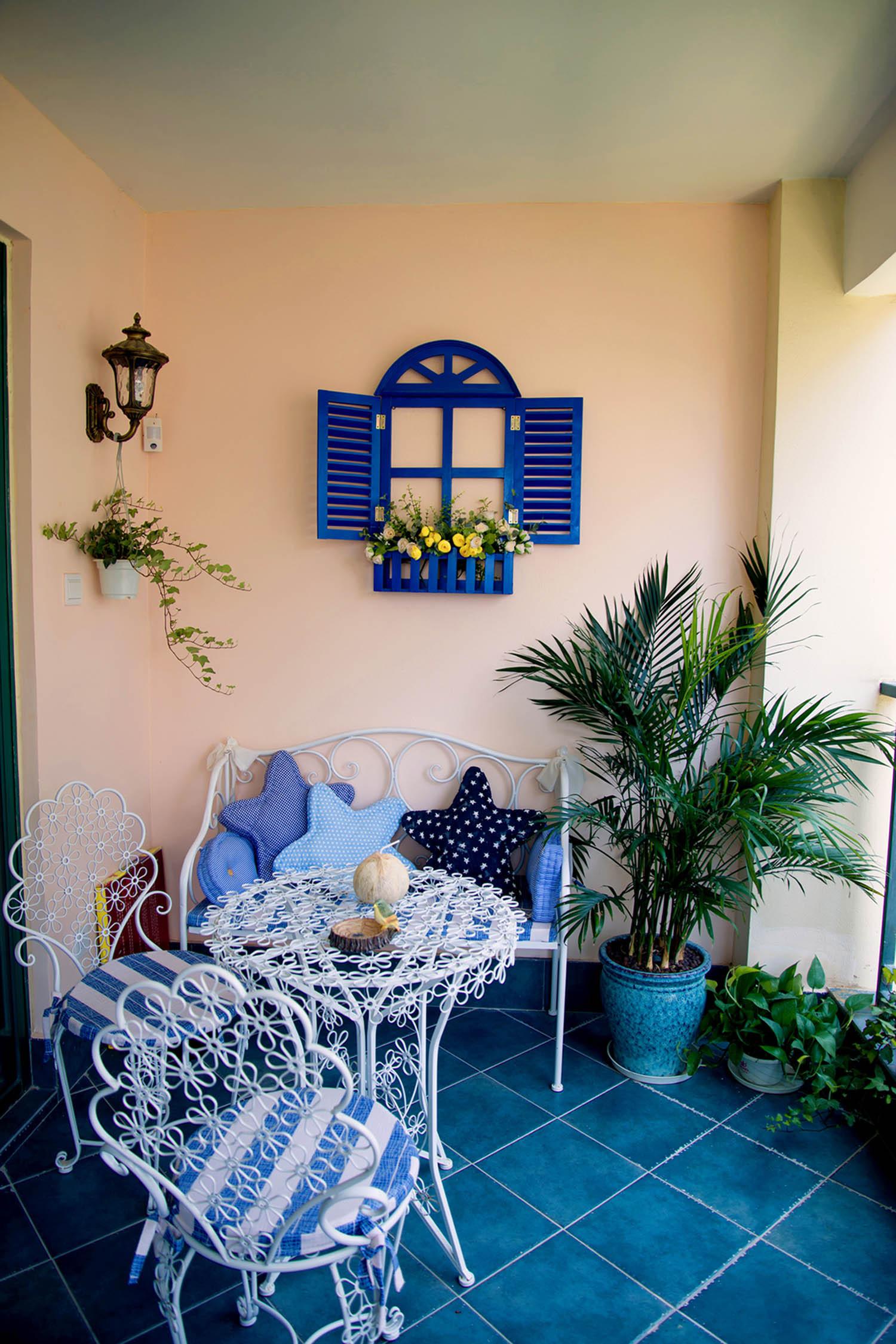120平地中海之家休闲阳台