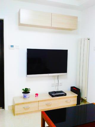 40平小户型简约装修电视背景墙图片