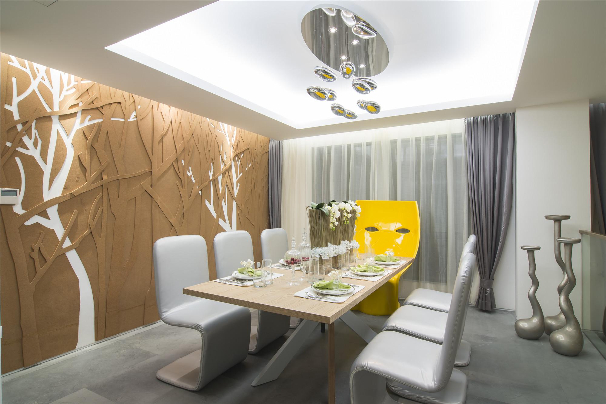现代简约样板房装修餐厅效果图