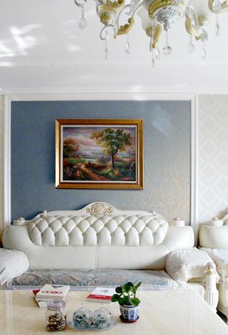 简欧三居装修沙发背景墙图片