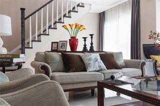 复式美式装修沙发图片