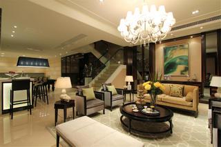 新古典别墅装修起居室布置图
