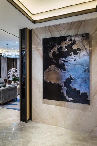 现代奢华主义三居装修装饰画欣赏