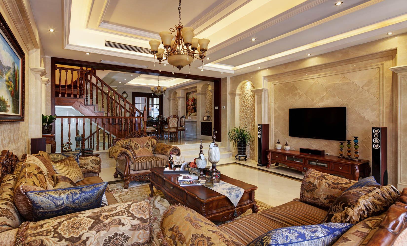 欧式风格别墅装修电视背景墙设计