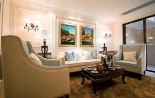 复式别墅装修沙发背景墙图片