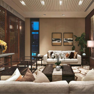 新中式别墅亚博唯一授权官网设计 东方美学