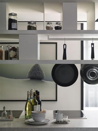 黑白灰现代简约空间装修厨具摆件