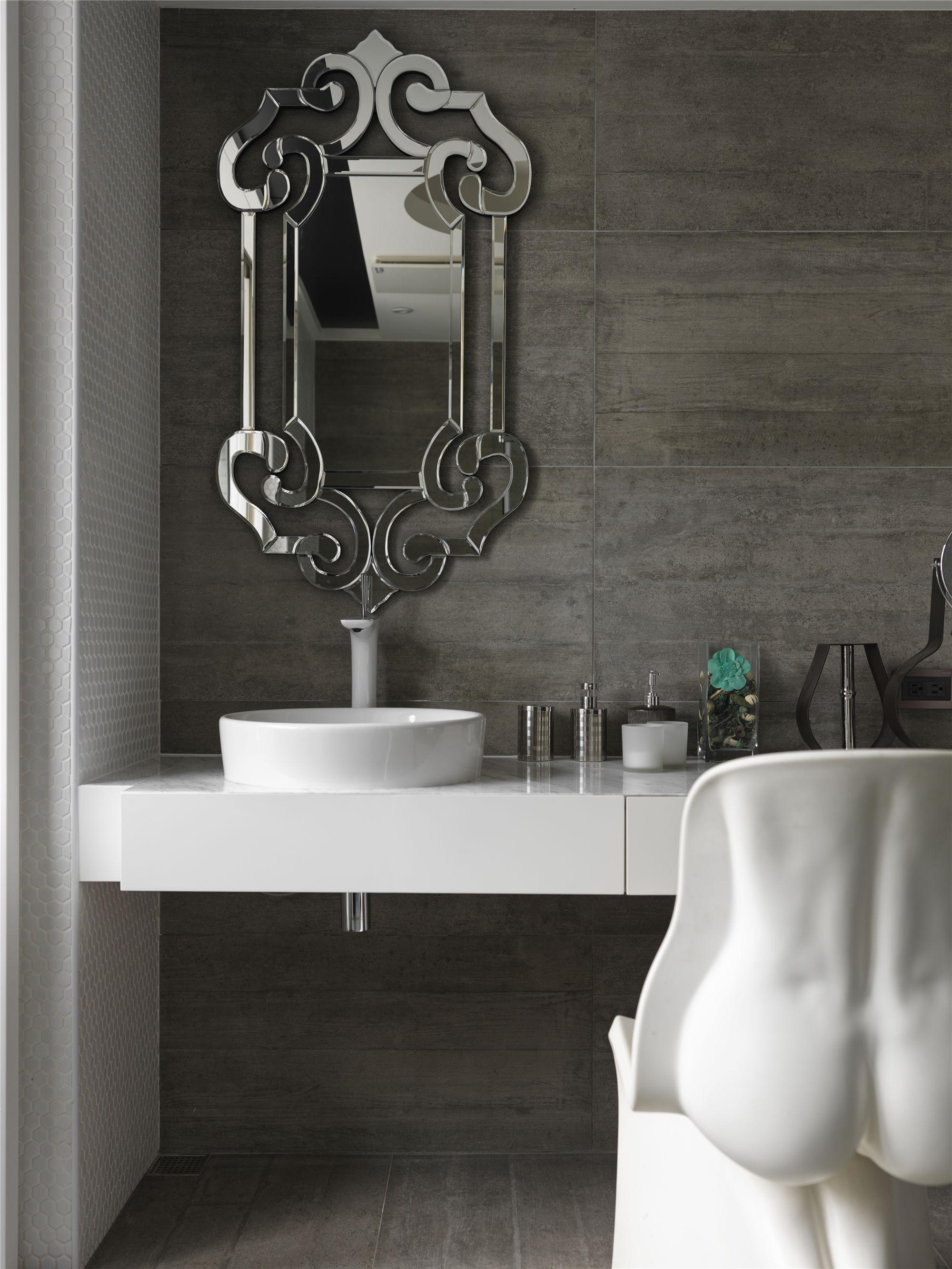 黑白灰现代简约空间装修梳妆台设计