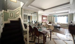 欧式三居装修客餐厅效果图