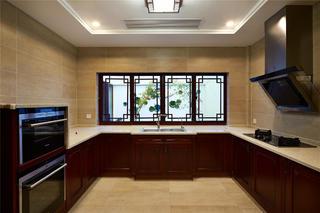 大户型中式之家厨房布局图