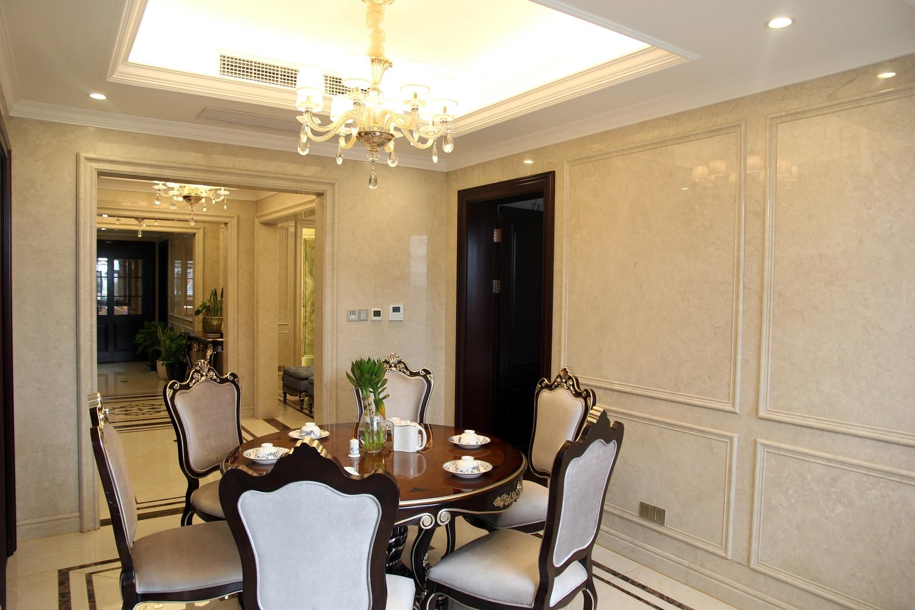欧式古典风装修餐厅效果图
