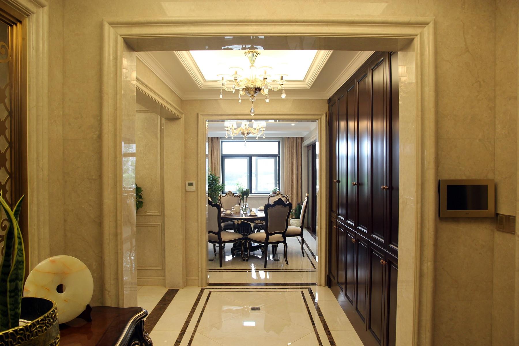 欧式古典风装修门厅装潢图