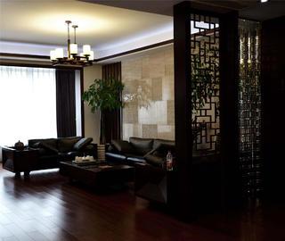 中式風裝修客廳布置圖